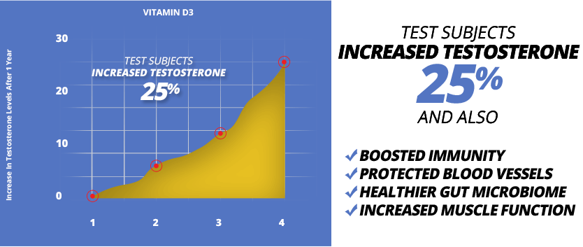TestDrol contains Vitamin D to boost testosterone & improve health